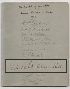 Autograph Booklet from 1900 Institute of Journalists annual conference in London