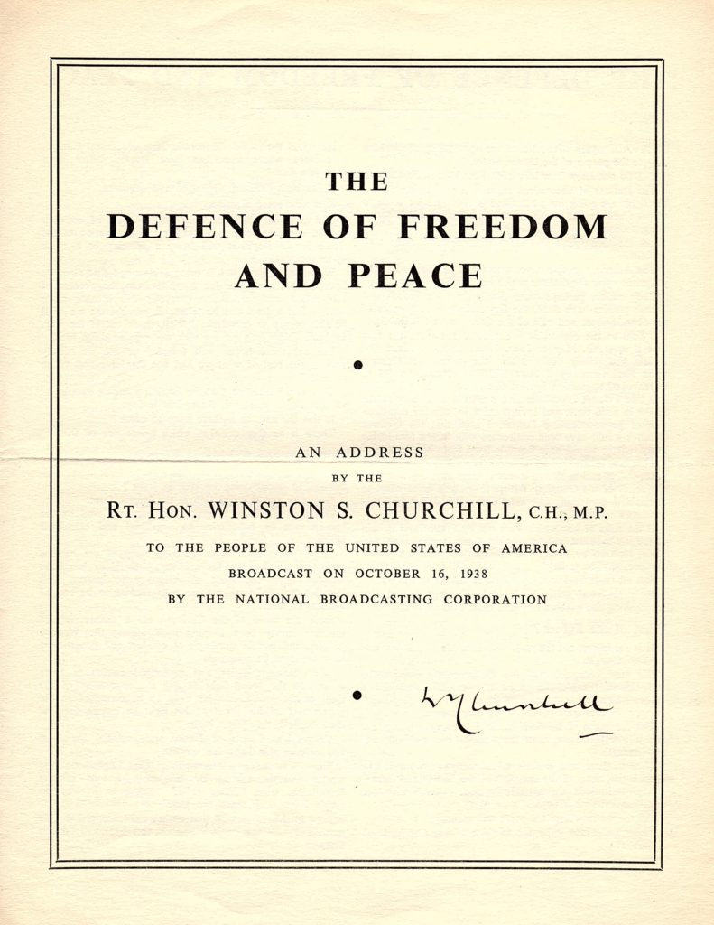The Defence of Freedom and Peace