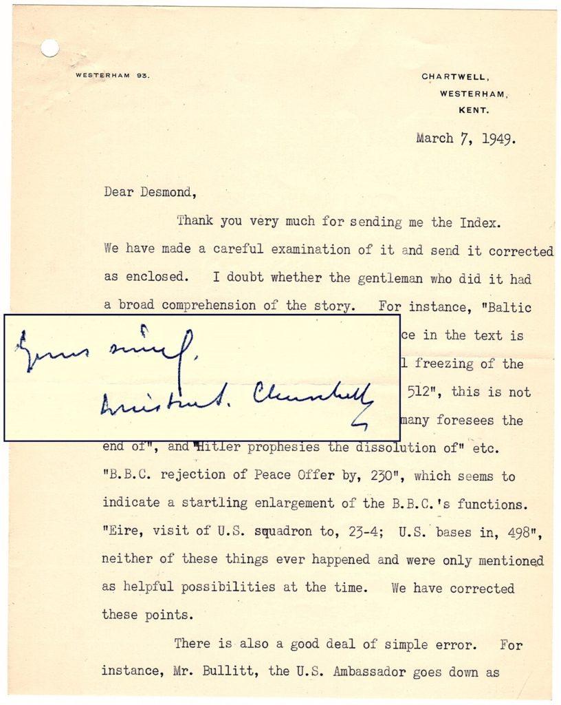 TLS from Churchill to Desmond Flower