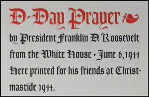 FDR D-Day Prayer