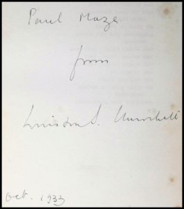 Churchill inscription to Paul Maze