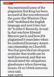 Merc Kuritz's letter to the editor of The Economist