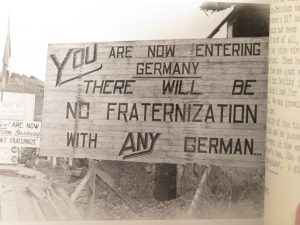 Sign at German border