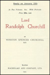 Flyer for Lord Randolph Churchill
