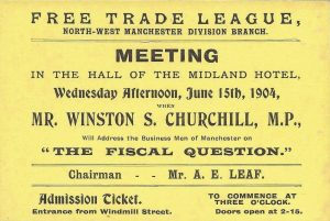 Free Trade League speech ticket (1904)