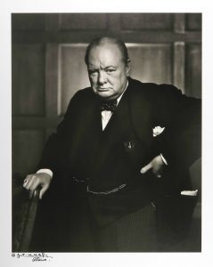 Karsh photo of Churchill