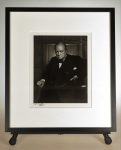 Framed Karsh photo of Churchill