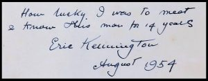 Eric Kennington inscription