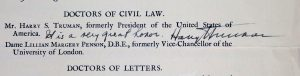 Harry Truman signature