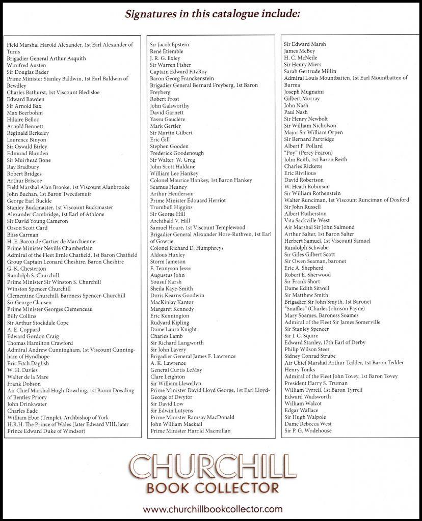 List of signatures
