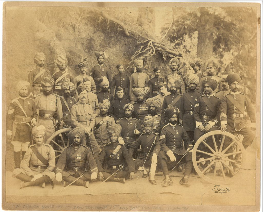 Native soldiers with Colonal O'Bryen