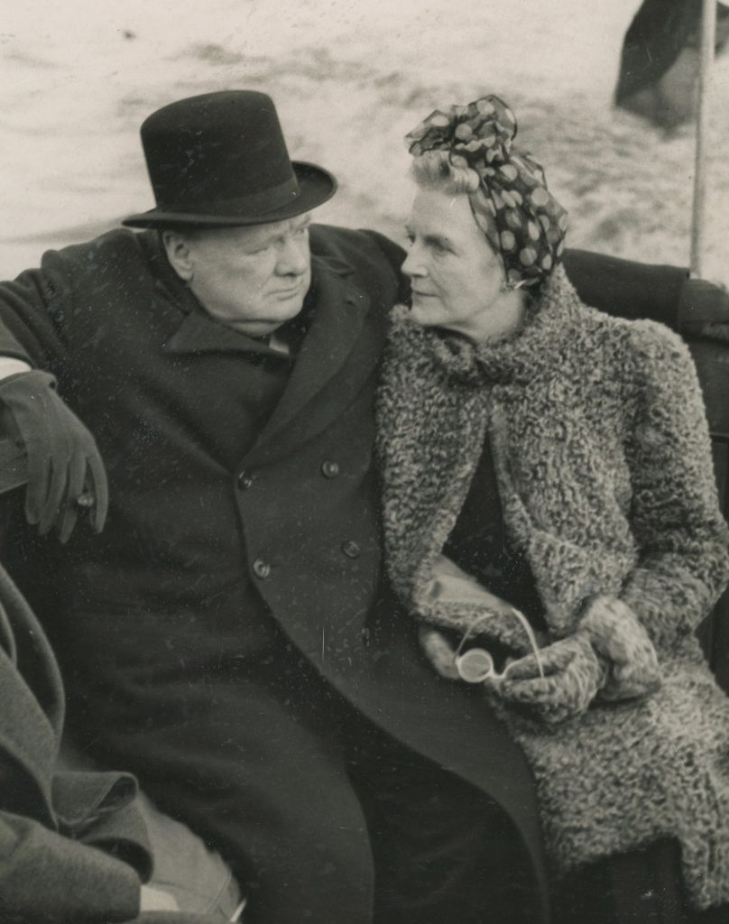 Photo of Winston and Clementine Churchill