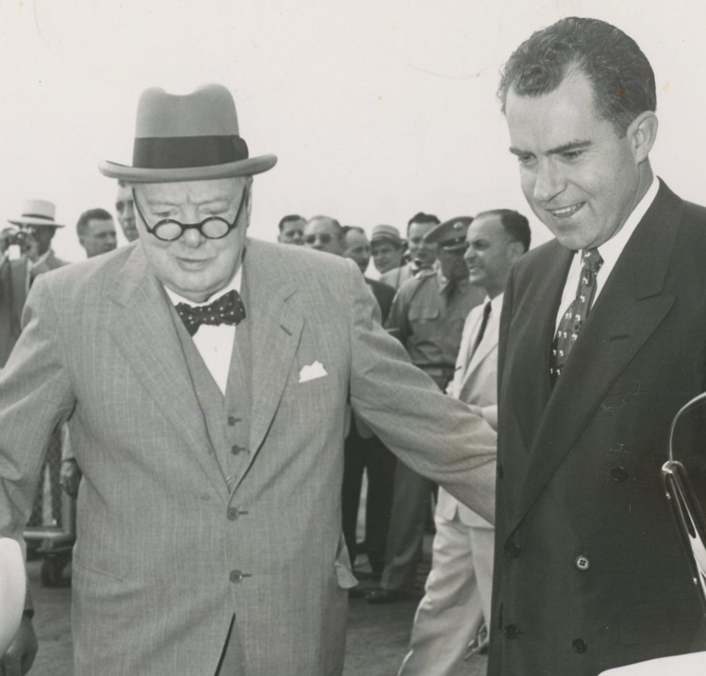 Photo of Churchill with Nixon