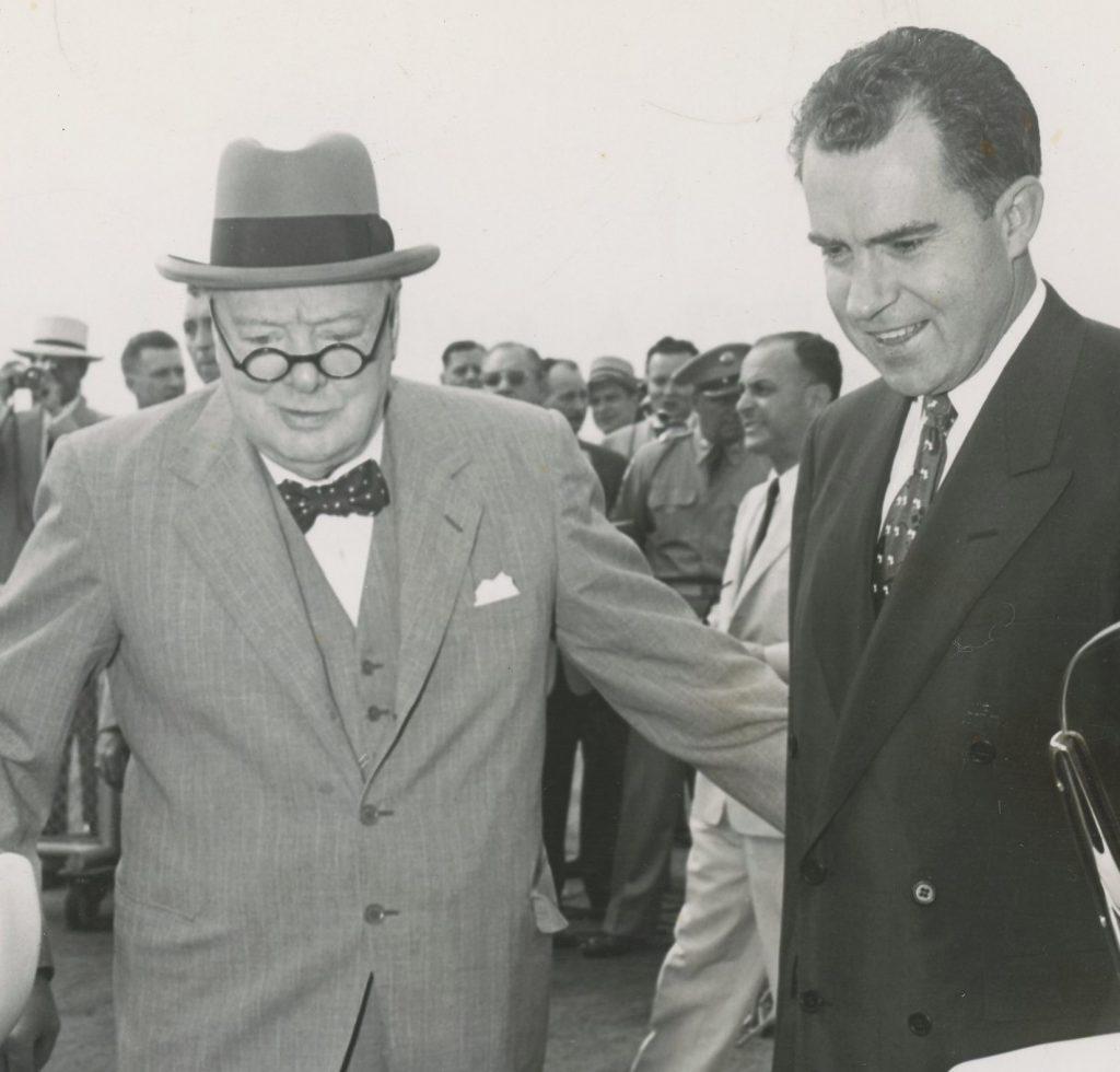 Photo of Churchill with Nixon