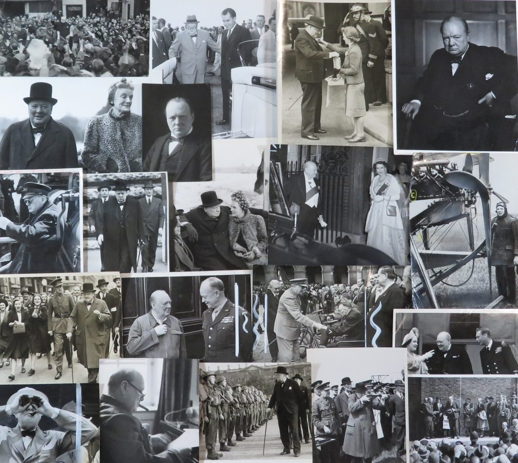 Press photos of Winston Churchill