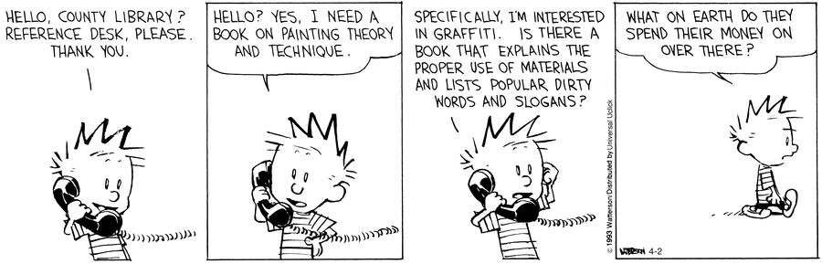Calvin and Hobbes, Library
